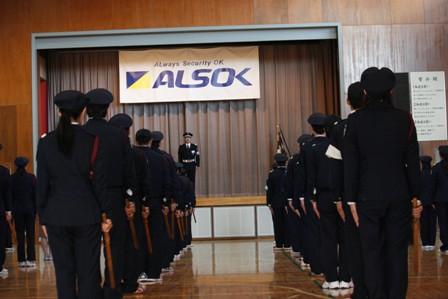 参考:ALSOKの新入社員研修の様子