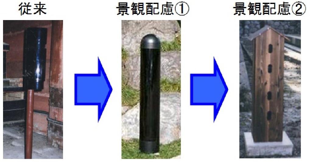 図3:屋外センサー設置の施工例