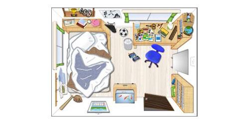 子供部屋鳥観図