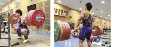 山本選手のトレーニング