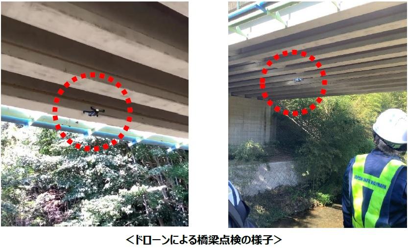 ドローンによる橋梁点検の様子