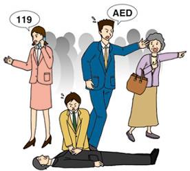『使い方 覚えて安心 AED』
